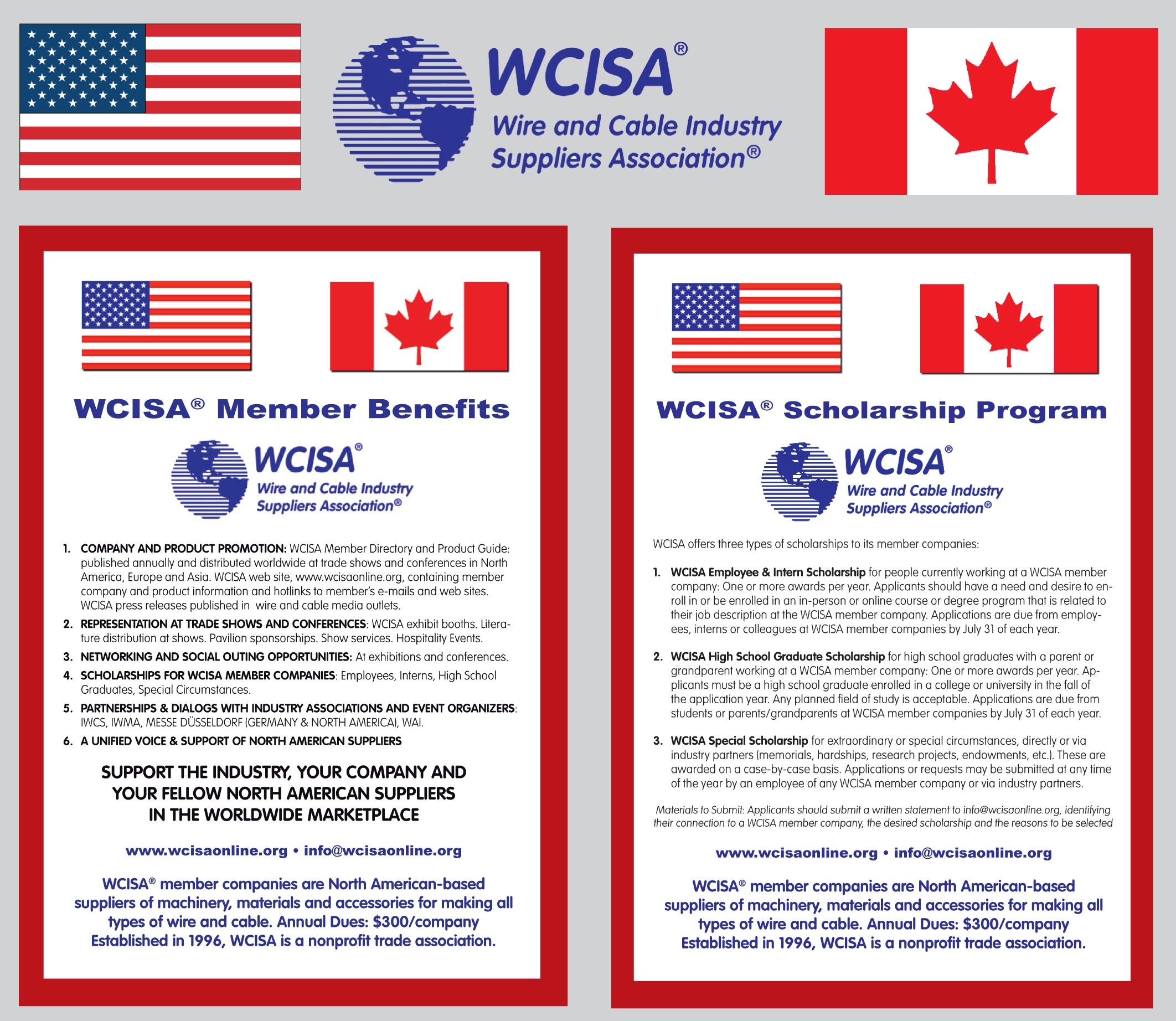WCISA - Wire & Cable Industry Suppliers Association - Mission